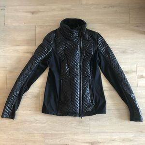 Zella black quilted puffer jacket